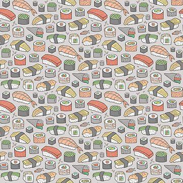 Sushi on Grey by CajaDesign