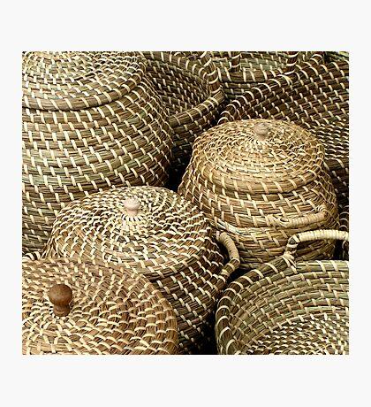 Baskets on market Kampen Netherlands Photographic Print