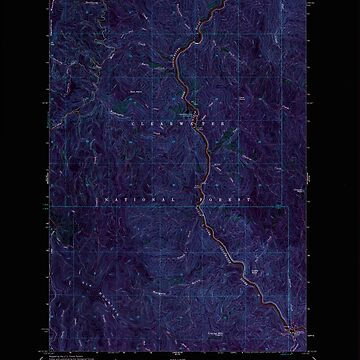 USGS TOPO Map Idaho ID Clarke Mtn 235697 1963 24000 Inverted by wetdryvac