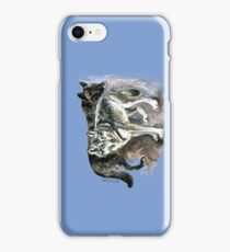 Timber wolf over blue (c) 2017 iPhone Case/Skin