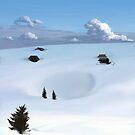 Winter landscape (V) by CatchyLittleArt