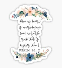 psalm 61:2 floral Sticker