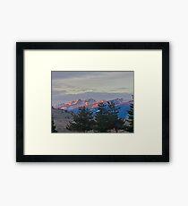 Sunrise Mountains Framed Print