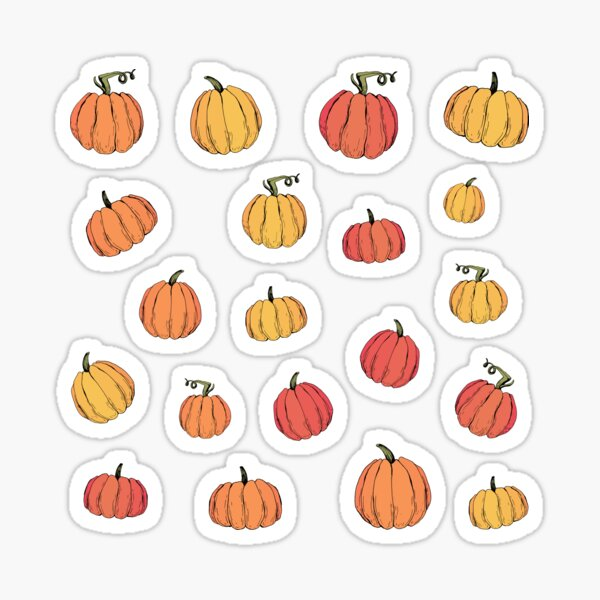 Rustic fall pumpkin pattern Sticker