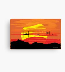 Attack on Takodana Canvas Print