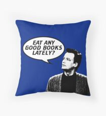 Eat Any Good Books Lately? Throw Pillow