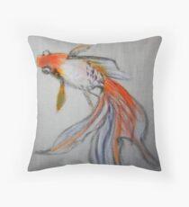Goldfish Pond (close up #10) Throw Pillow