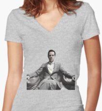 BBC SHERLOCK: Moriarty Women's Fitted V-Neck T-Shirt