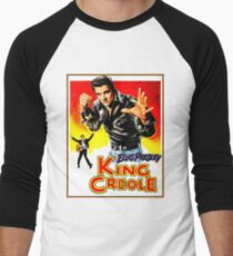 ELVIS : Vintage King Creole Movie Advertising Print Men's Baseball ¾ T-Shirt