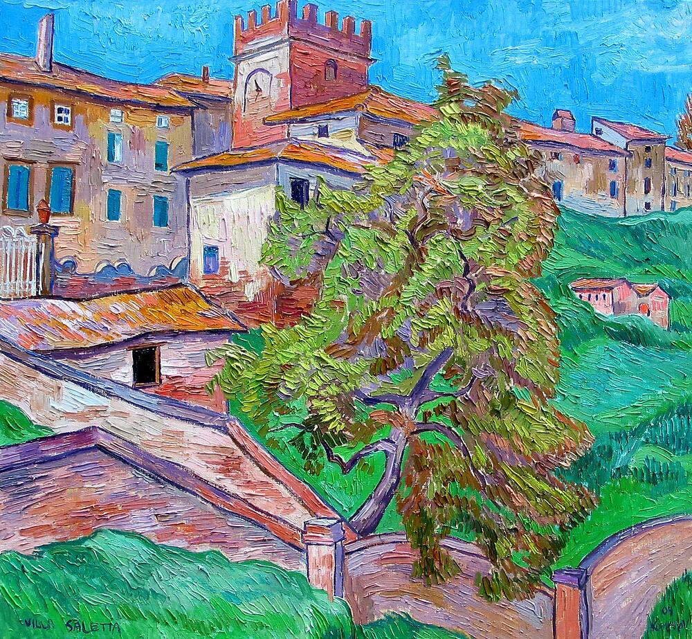 Villa Saletta in Tucany, Italy by Vitali Komarov