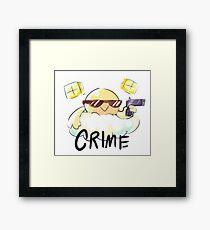CRIME Framed Print