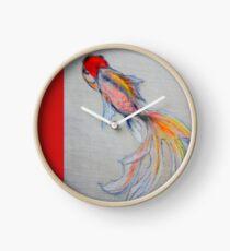 Goldfish Pond (close up #3) Clock