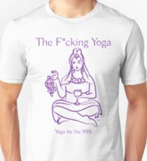 The F*cking Yoga Goddess Offering the Bird T-Shirt