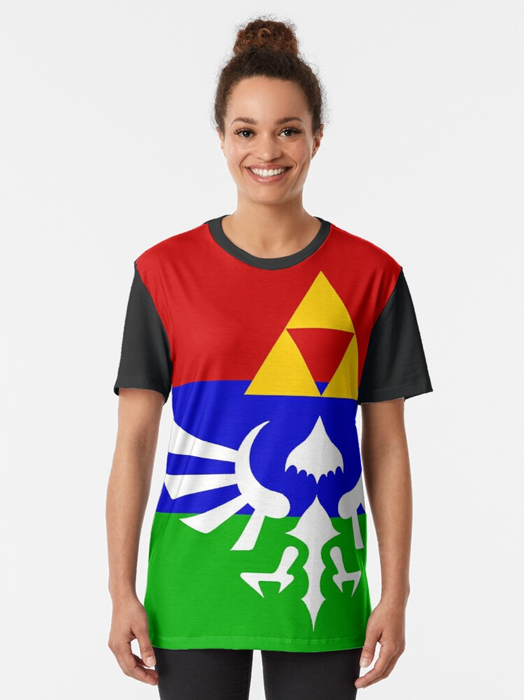 Alternate view of Hyrule Flag Graphic T-Shirt