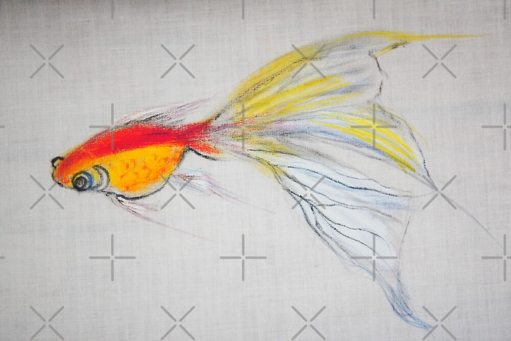 Goldfish Pond (close up #1) by Ming  Myaskovsky
