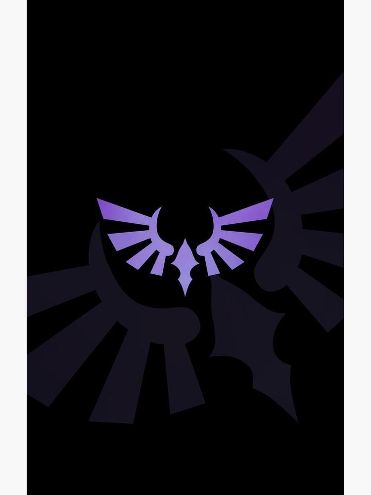 Hylia Crest - Purple on Black by Sarinilli