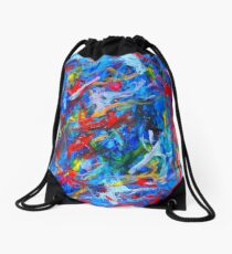 Winter In Russia Drawstring Bag