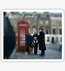 Happy family Sherlock Sticker