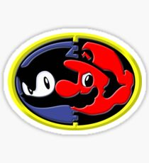 Sonic and Mario 3D Sticker