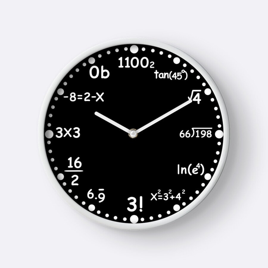 Worksheet Math Clock build math clock clocks by malunis redbubble malunis
