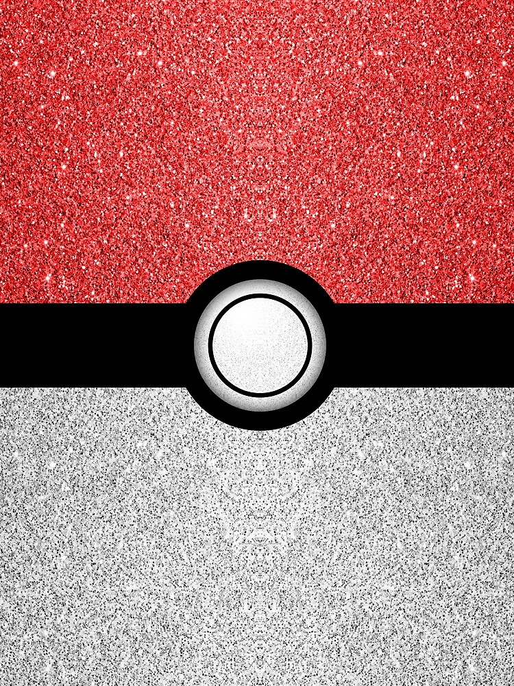 Sparkly red and silver sparkles poke ball by PLdesign
