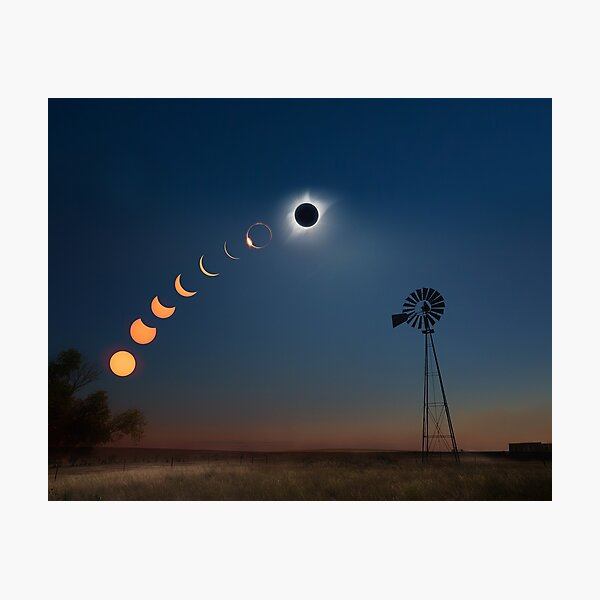 Midwest Eclipse - Artistic Composite Photographic Print