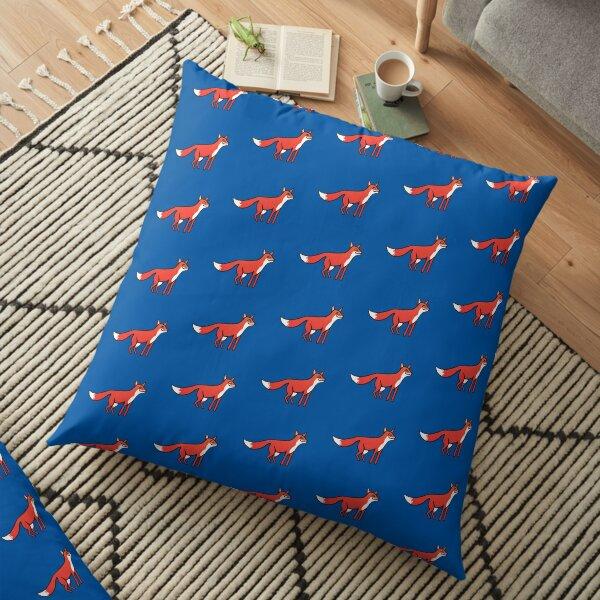 Stargazing - Fox in the Night - original linocut by Francesca Whetnall Floor Pillow