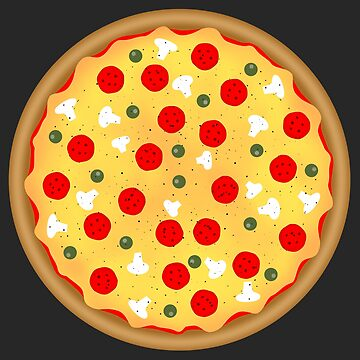 Cool fun pizza pepperoni mushroom by PLdesign