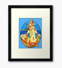 Pokemon Floatzel Framed Print