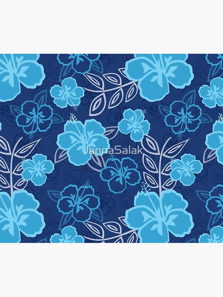 Blue Hawaiian Hibiscus Pattern by JannaSalak