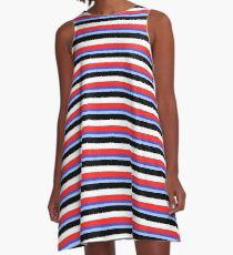 Jeremy Heere - Be More Chill stripes A-Line Dress