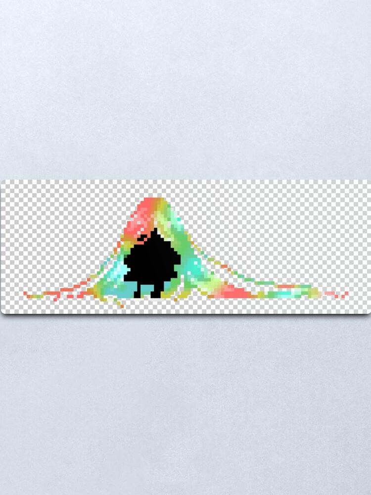 Alternate view of Pixelated Faceless Girl Metal Print
