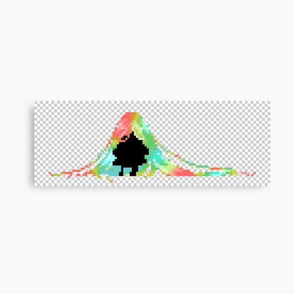 Pixelated Faceless Girl Canvas Print