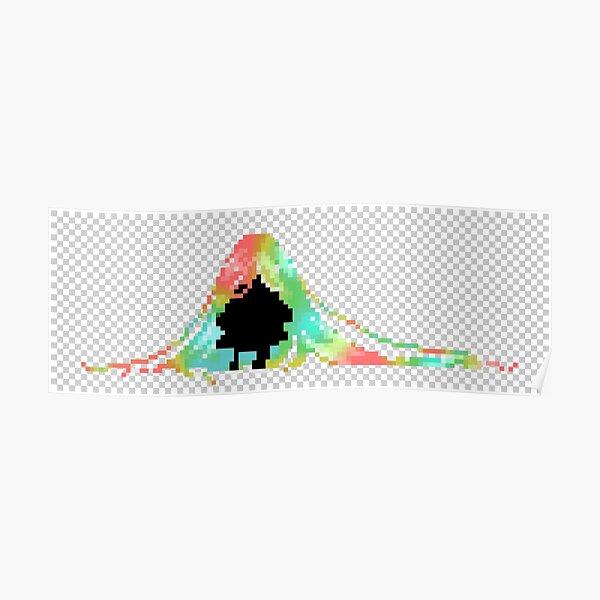 Pixelated Faceless Girl Poster
