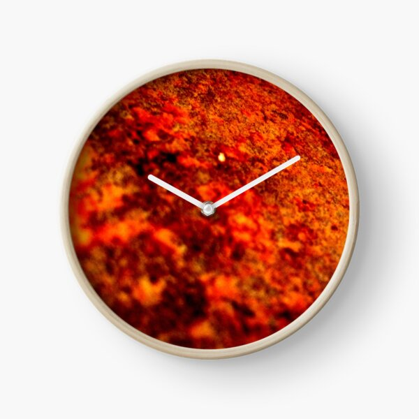 BURNT RUST Clock