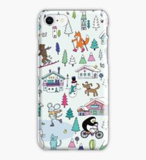 Alpine Animal Antics - original iPhone Case/Skin