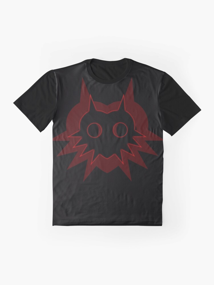 Alternate view of Majora's Shadow in Red on Black Graphic T-Shirt