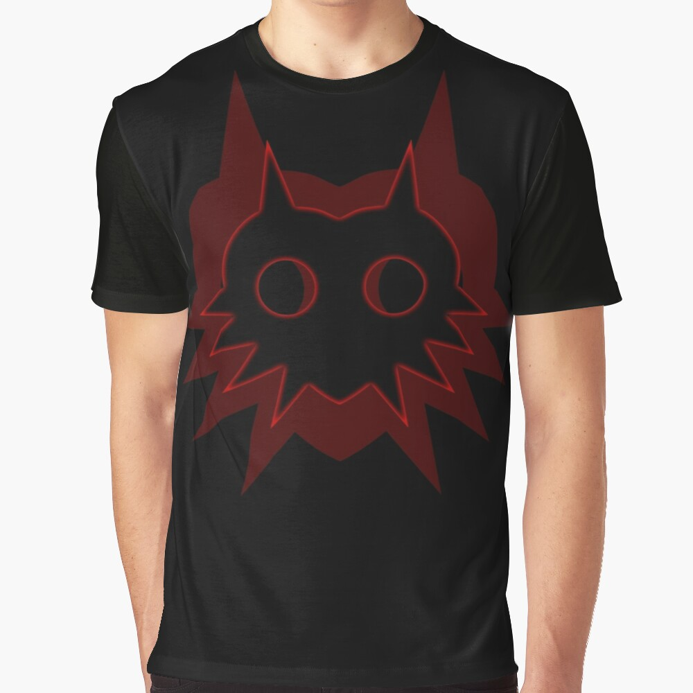 Majora's Shadow in Red on Black Graphic T-Shirt