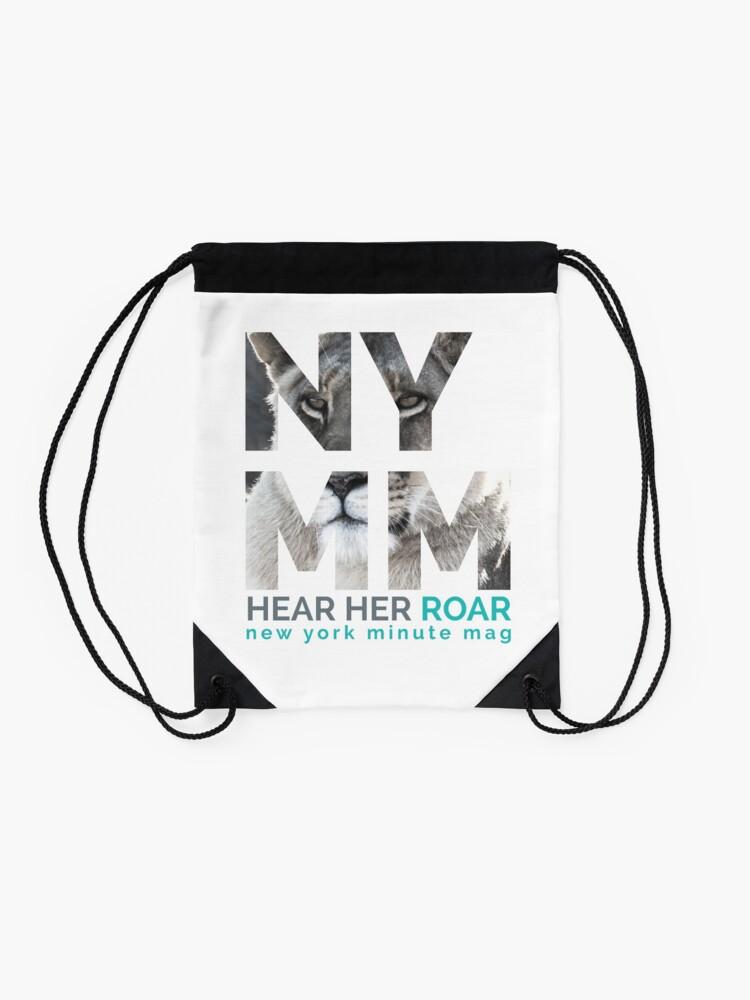 Alternate view of NYMM Lioness Drawstring Bag