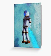 Space Jumping Greeting Card