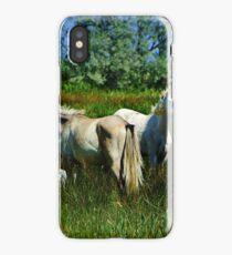 Camargue horses iPhone Case/Skin