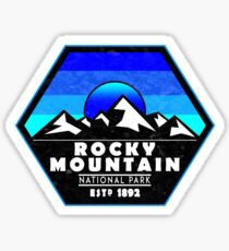 Rocky Mountain National Park Colorado Blue Sticker