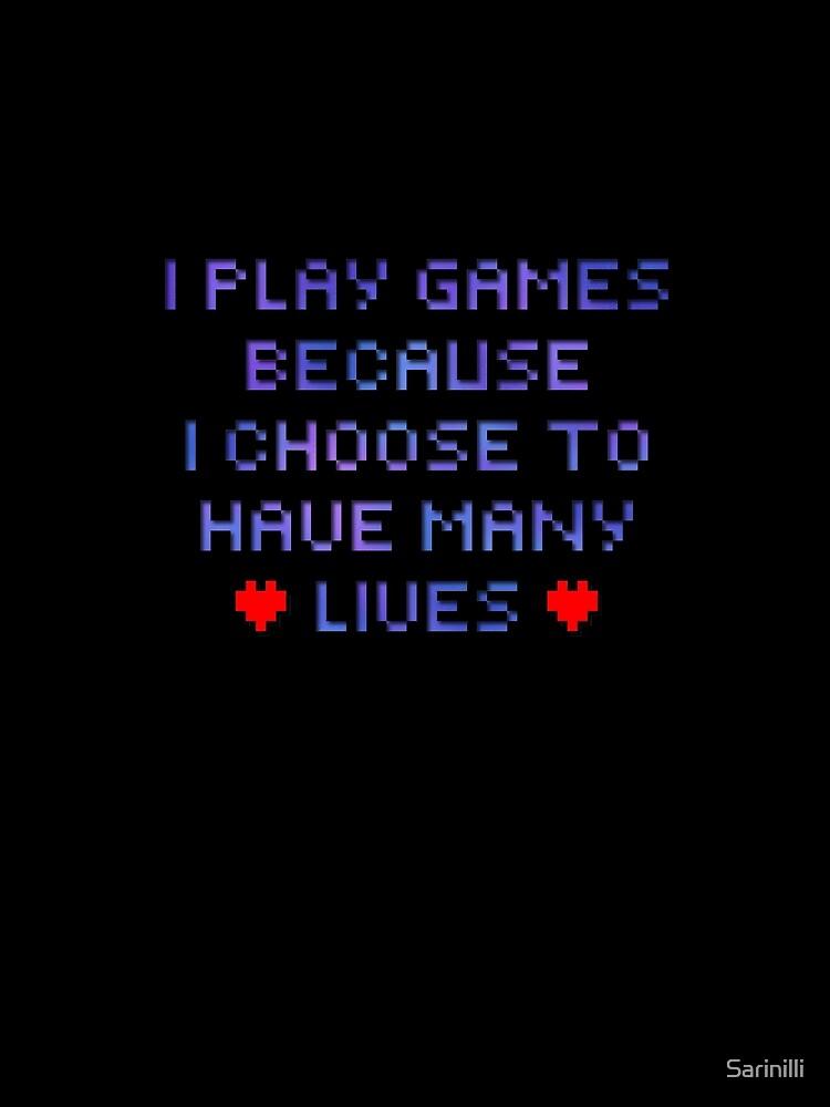 Pixel Text - Many Lives by Sarinilli