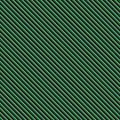 Stripes (Small) - Green and Silver by Sarinilli