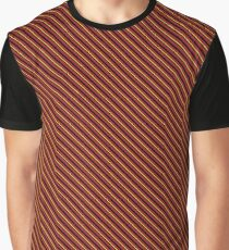 Stripes - Red and Gold Graphic T-Shirt