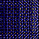 Diamonds and Stripes - Blue and Bronze by Sarinilli