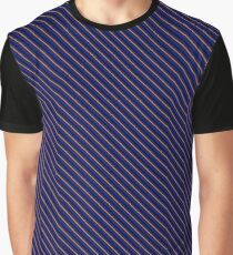 Stripes - Blue and Bronze Graphic T-Shirt
