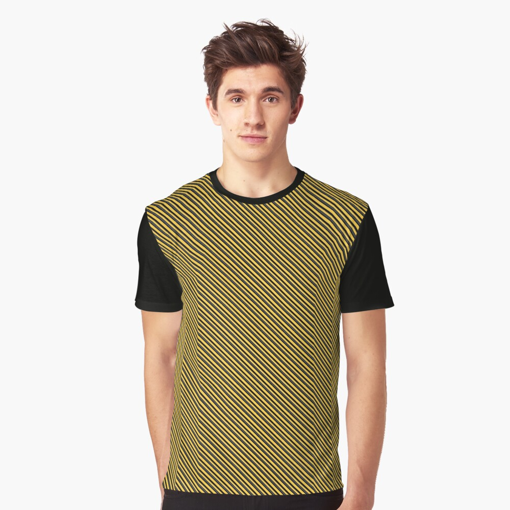 Stripes (Small) - Yellow and Black Graphic T-Shirt