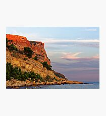 Sunset at Pointe des Lombards near Cassis, France Photographic Print