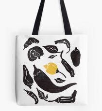 Pepper Pepper Pepper! Black and Yellow Tote Bag